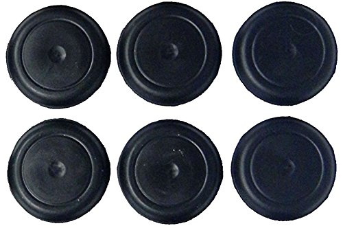 1 Black Rubber - (Pack of 5) 1
