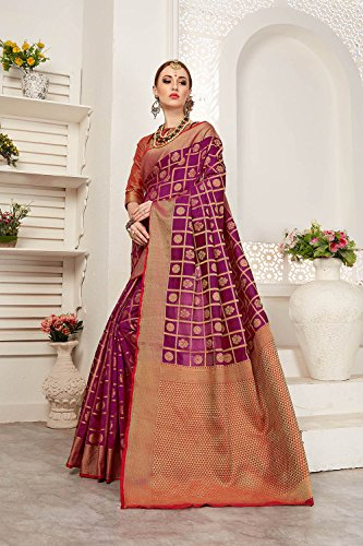 Sari Indian 5 Amp for Sarees Wear Da amp Traditional Party Designer Facioun Red Wedding Women Purple g1qxvZw5