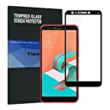 TopACE Bye-Bye-Bubble Premium Quality Tempered Glass 0.3mm Full Cover Screen Protector for Asus ZenFone 5 Lite ZC600KL/5Q (Black)
