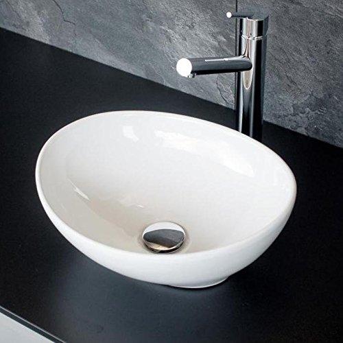Kleines Design Gäste - WC Keramik Aufsatz Waschbecken / Waschschale Modell 02