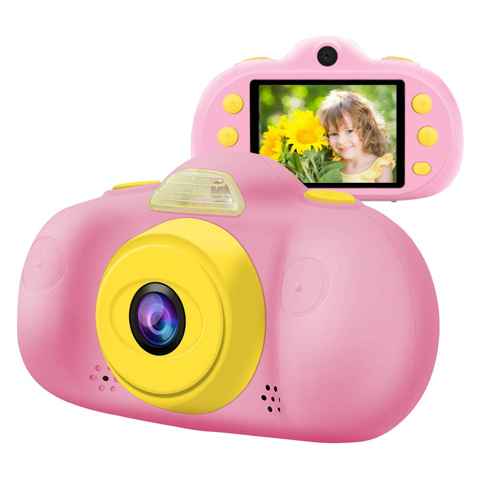 Huaker Kids Camera ,2.4Inch Screen Digital Camcorders Camera Rechargeable 8MP Children's Camera with Silicone Soft Cover for 3-10 Year Old Boys Girls Party Outdoor Play by Huaker (Image #1)