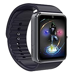 NOVPEAK Bluetooth Smart Watch with SIM Card Slot, NFC Smartwatch Phone for IOS iPhone Android Samsung HTC Sony LG Nokia Smartphones Men Women Kids (Black)