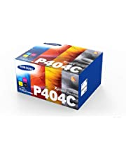 Samsung SU365A CLT-P404C Original Toner Cartridges, Black, Cyan, Magenta and Yellow, Pack of 4
