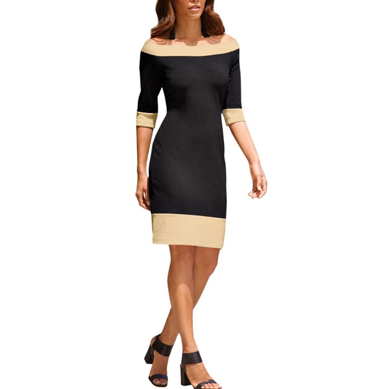 Kleider , Frashing off-shoulder gestreiften Side Split Elegant ...