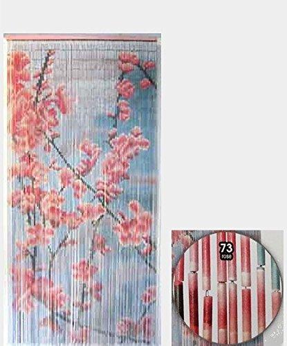 Türvorhang, Bambus, Insektenschutzvorhang, 90 x 200 cm,