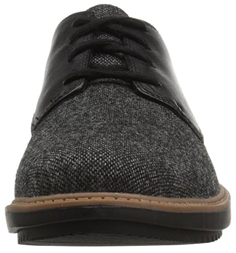 Clarks Womens Raisie Bloom Oxford Black Tweedcombi