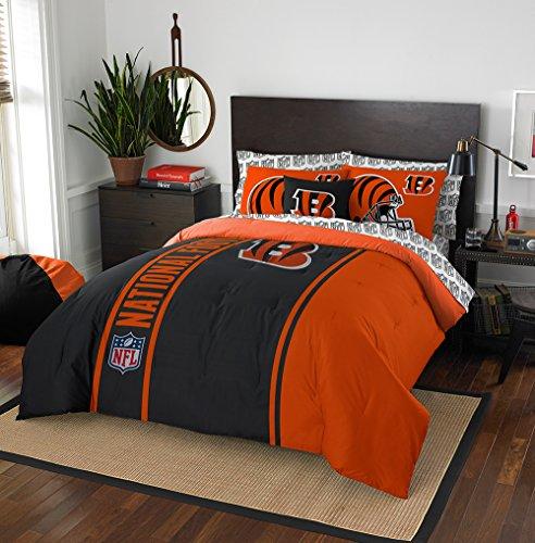 NFL Cincinnati Bengals Soft & Cozy Full Comforter Set (7 (Cincinnati Bengals Bedding)