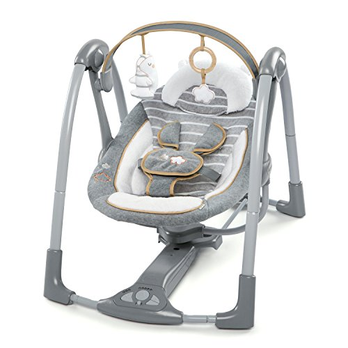 Read About Ingenuity Boutique Collection Swing 'n Go Portable Swing - Bella Teddy