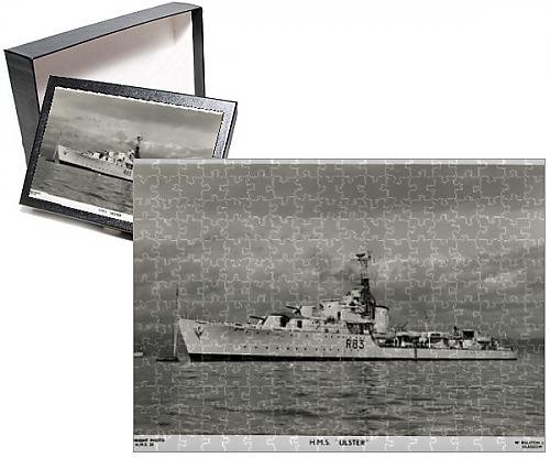 Photo Jigsaw Puzzle of HMS Ulster, British destroyer, WW2 (Wwii Ship Photograph)