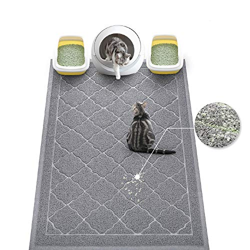 WePet Cat Litter Mat Jumbo, Kitty Litter Trapping Mess Mat, XXLarge Size, 47 x 36 Inch, Premium Durable Soft PVC Rug, No…