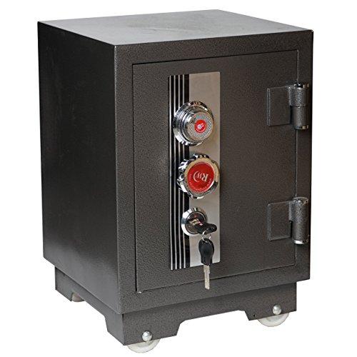 Tresor Tokio T133, Panzerschrank Safe, 1h feuerfest bis 1010°C 58kg 50x35x35cm 0,9mm Stahlstärke