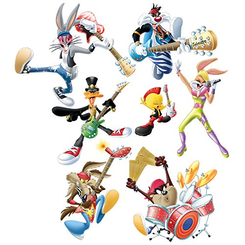 (Looney Tunes Large Rock Band Wall Decal Set)