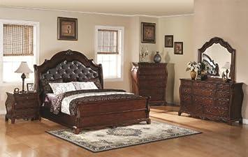 Amazon.com | Priscilla Queen 6-Pc Bedroom Set by Coaster Fine ...