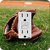 Rikki Knight 1073 Baseball with Glove Design Light Switch Plate