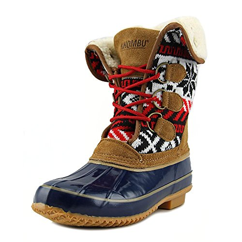 Cold Toe Boots Calf Weather Khombu Mid Closed Navy Fabric jenna Womens 0cgqCw46
