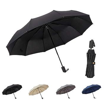 9e6d3d5e9870 TIME LOVER Folding Umbrella Windproof Travel Manual Open/Close Ergonomic  Handle Umbrella (Black)