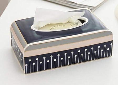 Caja De Pañuelos Caja De Panuelos De Papel Dispensador De Pañuelos Caja De Pañuelos Decorativos De Cerámica para El Hogar Breve De Moda Caja De Pañuelos De Cerámica para Bellas Artes-B: Amazon.es:
