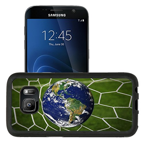 Liili Samsung Galaxy S7 Aluminum Backplate Bumper Snap Case Retriver Photo 19682663 Iphone6 Image Id  16215494 Earth Globe In Goal Net With Green Grass Field
