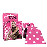 KT TAPE PRO Elastic Kinesiology Therapeutic Tape - 20 Pre-Cut 10-Inch Strips - Pink Polka Dots