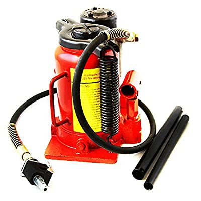 """PNPGlobal""""20 Ton"""" Air Manual Power Over Hydraulic Portable Low Profile Bottle Jack Lift"""