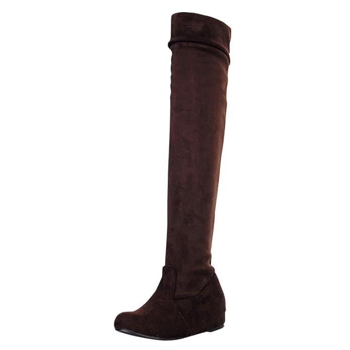 Hee Grand Damen Kniehoch Stiefel Boots EU Groesse 37.5=CN Groesse 39 Weiss qlu2Hg3