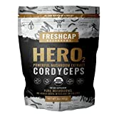 HERO – Cordyceps Mushroom Extract Powder – USDA Organic -60 g- Supplement – Energy and Endurance – Add to Coffee/Tea/Smoothies-Real Fruiting Body No Fillers For Sale
