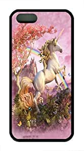 iPhone 5S Case,Awesome Unicorn TPU Silicone Rubber Case Cover for iPhone 5 and iPhone 5s Black