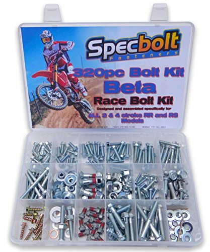 - 320pc Specbolt Beta RR RS Xtrainer Motorcycle Bolt Kit 250 300 350 390 400 430 450 480 498 520 525 2 & 4 strokes.
