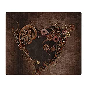 CafePress Steampunk Heart Throw Blanket