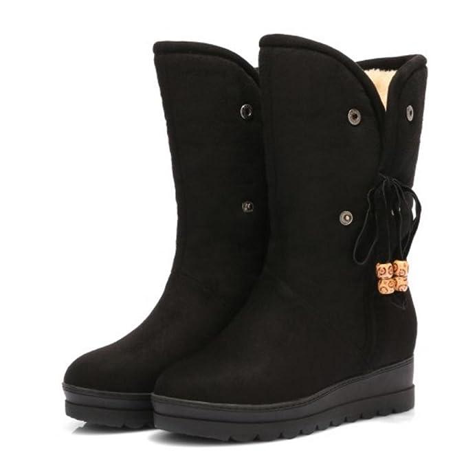 RAZAMAZA Botas de Media Pierna para Mujer  Amazon.es  Zapatos y complementos 6a968f8ed2ab2