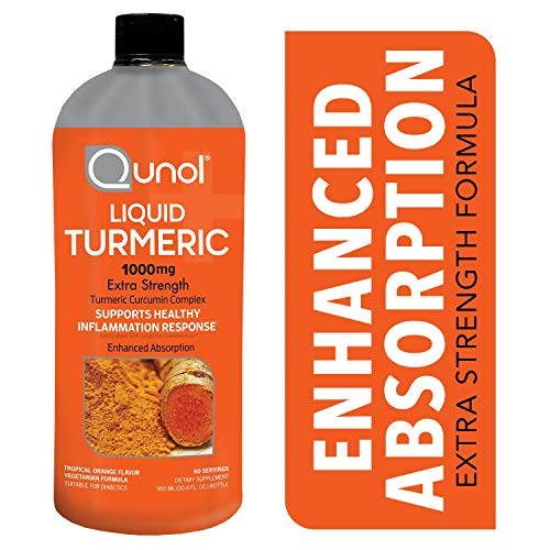 Qunol Liquid Turmeric Curcumin with Bioperine 1000mg, Anti-Inflammatory, Dietary Supplement, Extra Strength, 60 Servings