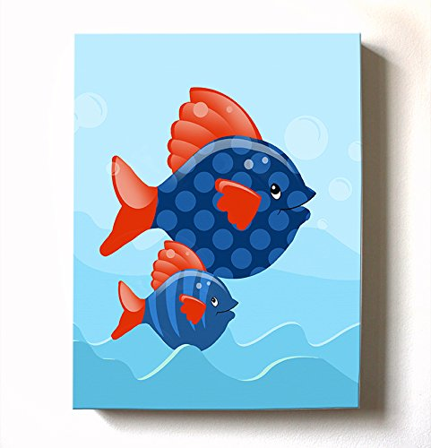 Under The Sea Ocean Theme - Stretched Canvas Nursery Wall Ar