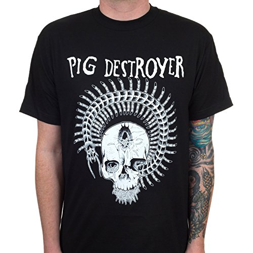 Indie Merch Pig Destroyer Men's Prescott T-Shirt Black - Fashion Mens Indie
