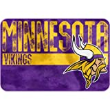 "NFL ""Worn Out"" Bath Mat, 20"" x 30"" - Most NFL Teams Available (Minnesota Vikings)"