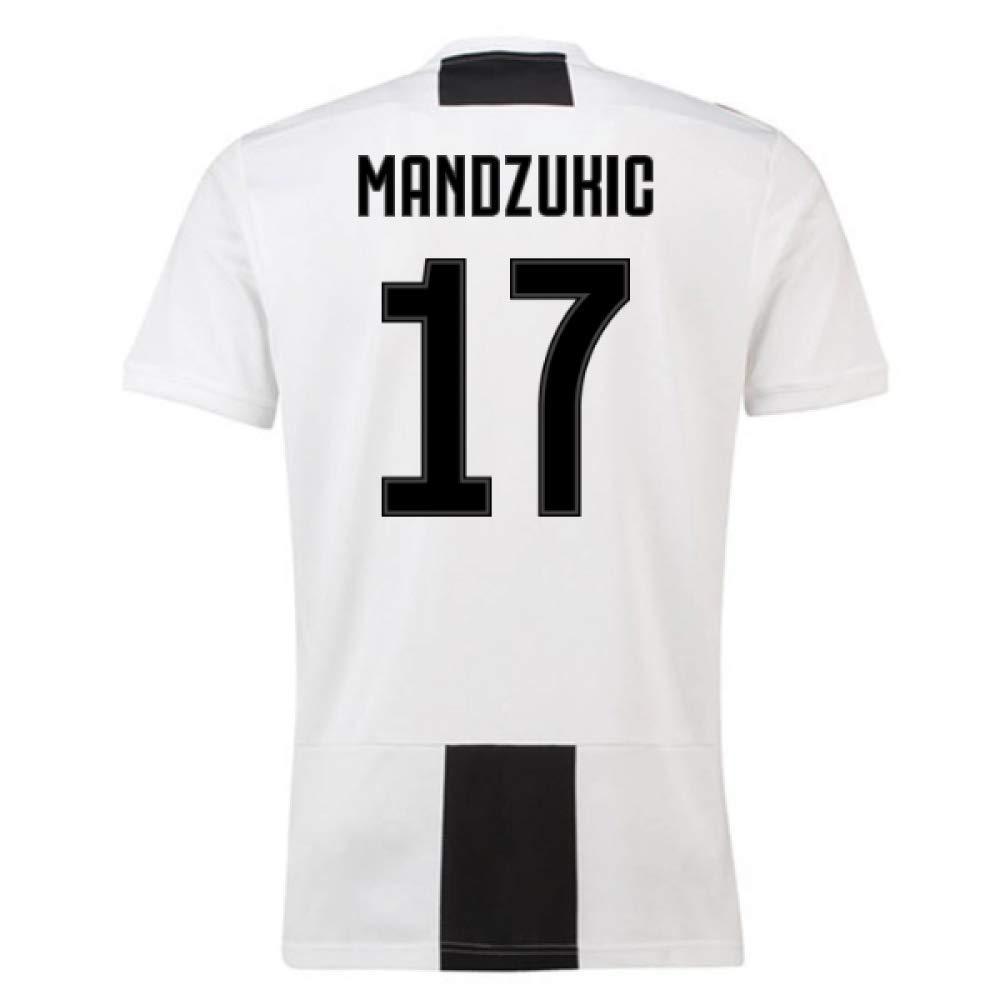2018-19 Juventus Home Football Soccer T-Shirt Trikot (Mario Mandzukic 17) - Kids