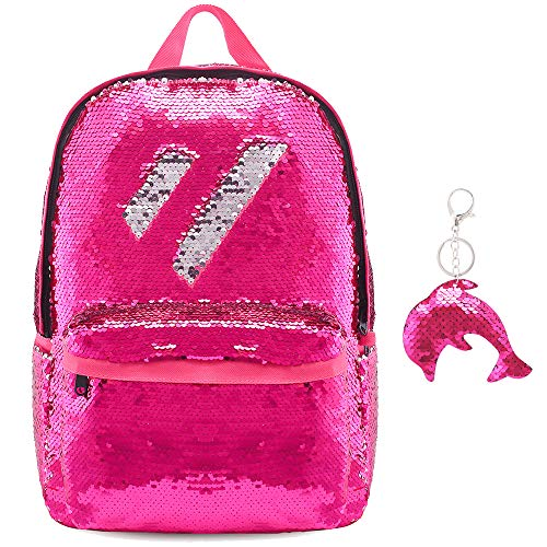 Magic Flip Reversible Sequin Backpack for Girls Glitter Mermaid School Book Bag -