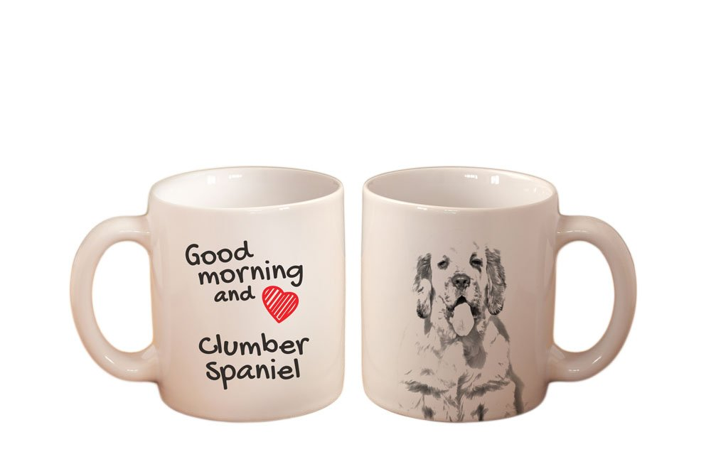 Clumber Spaniel, mug with a dog,, cup, ceramic, new collection 3