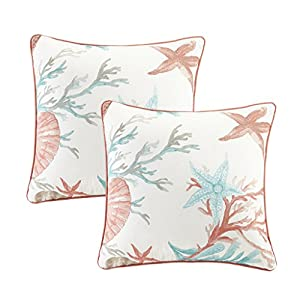 51aHEKBkkAL._SS300_ 100+ Coastal Throw Pillows & Beach Throw Pillows