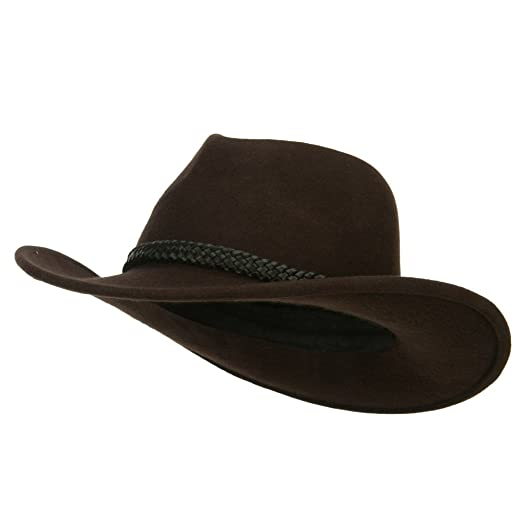 bdd13a8a5 Jeanne Simmons Leather Band Wool Felt Cowboy Hat