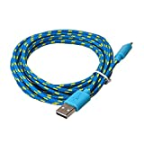 Orcbee  _1M Hemp Rope Micro USB Charger Sync Data Cable Cord for Cell Phone (Blue)