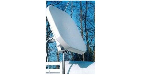 Antena parabólica Sqish plano + con LNB Quad: Amazon.es ...