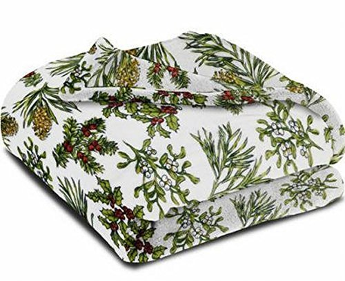 Microfleece Throw (Better Homes & Gardens Velvet Plush Microfleece Winter Botanical Throw Blanket)