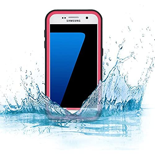 Andiker Waterproof Case for Samsung Galaxy S7, First-class Quality Fully Sealed Waterproof Shockproof Impact Resistant Snow/Dirt Proof Cover (Pink) Sales
