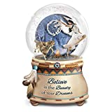 Robin Koni Mystical Dreams Wolf Art Light Up Glitter Globe by The Bradford Exchange