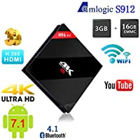 3GB 16GB H96 Pro Plus Amlogic S912 Octa Core Android 7.1 TV Box Support Dual WiFi 4K 1000M LAN BT4.1