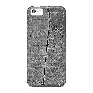 LatonyaSBlack Snap On Hard Case Cover Concrete Wall 9 Protector For Iphone 5c