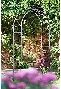 ZXCC para Arcos Stent Tiempo clásico jardín de Plantas trepadoras,Black: Amazon.es: Hogar