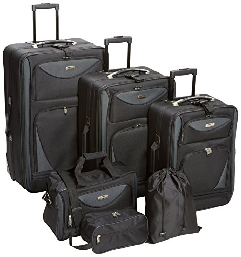 Tone Expandable Travel Set - Sky View Collection- 6pc EVA Expandable  set in Black