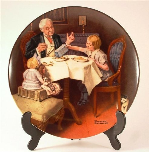 (c1985 Knowles Norman Rockwell plate - The Gourmet from the Rockwell Heritage Collection - CP1096 by Bradford Exchange)