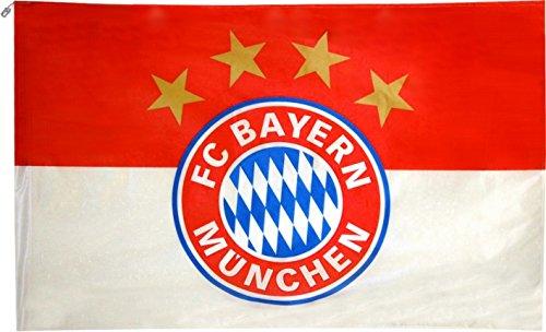 Flagge Fahne FC Bayern München Logo Hissflagge 150x250 cm